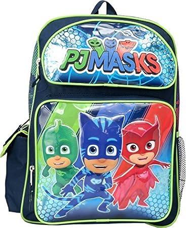 """PJ MASKS Gekko Catboy Owlette 16"""" Large Backpack"""