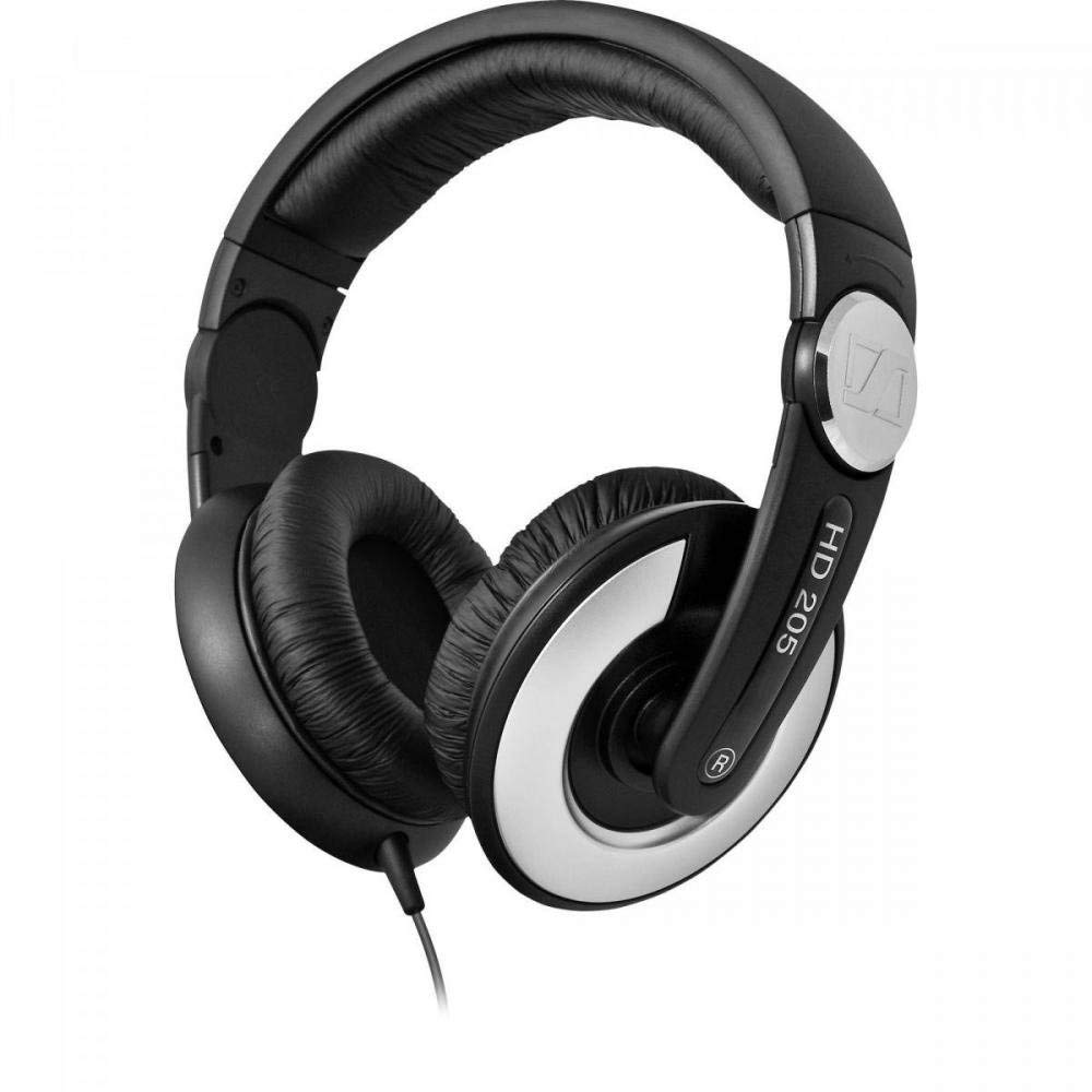 Sennheiser HD 205 II (Black) Closed Back Around Over-Ear Stereo Headphone