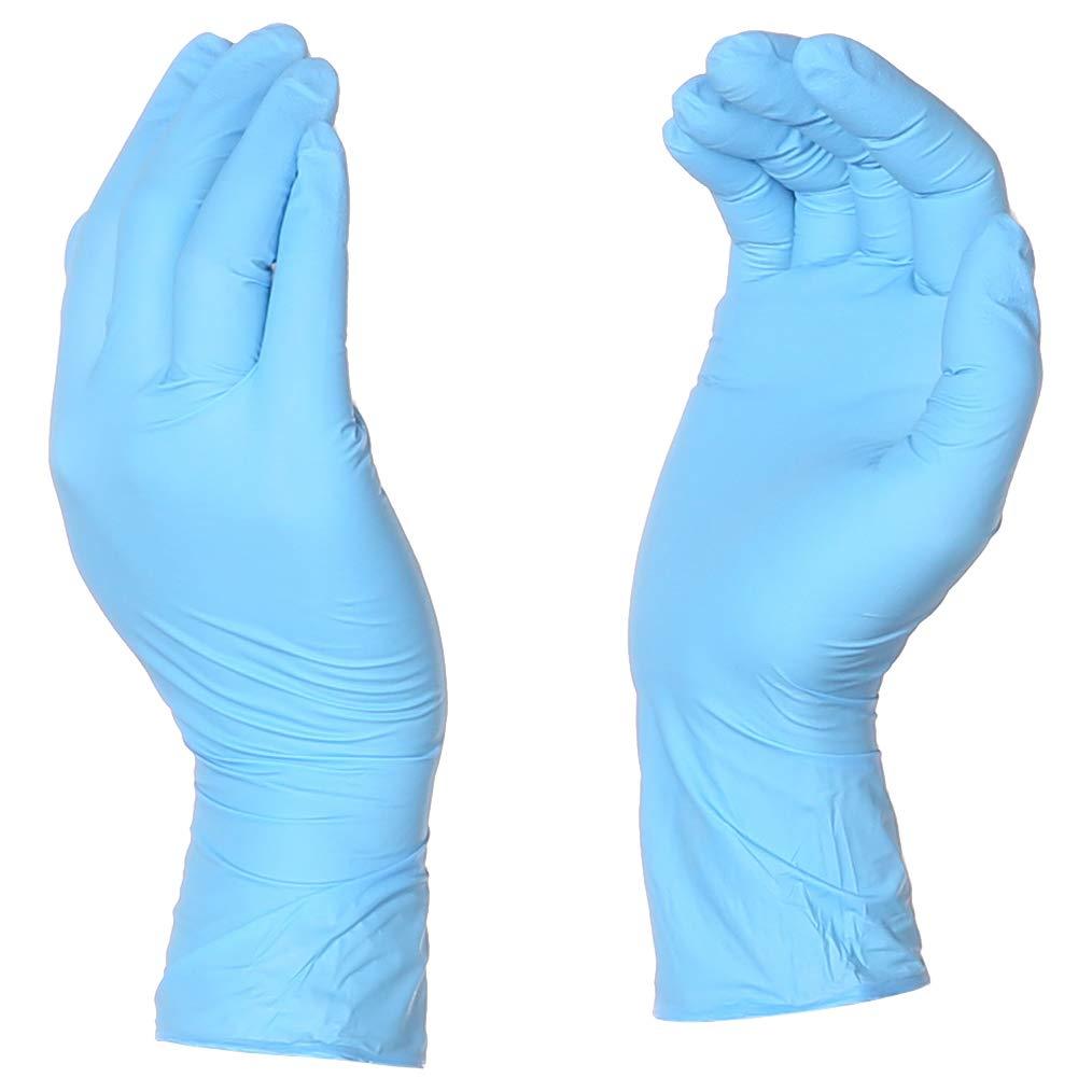 AmazonBasics Powder Free Disposable Nitrile Gloves, 5 mil, Blue, Size L, 100 per Pack, 10-Pack