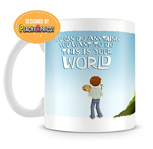 bob ross mug happy accidents thank you quotes