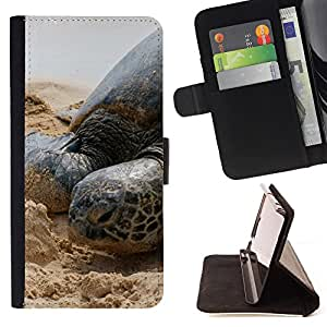 - Sea turtle - - Style PU Leather Case Wallet Flip Stand Flap Closure Cover FOR Samsung Galaxy S4 Mini i9190 - Devil Case -