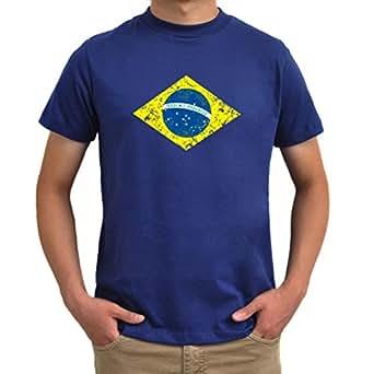 Brasil Flag worn style T-Shirt