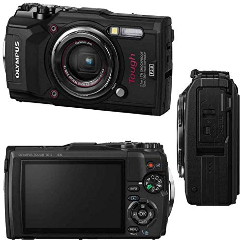 Olympus Tough TG-5 Waterproof Digital Camera 3'' LCD, Black W/ 64GB Accessory Kit by Teds (Image #1)
