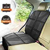 Sunferno Car Seat Protector - Protects Your Car Seat from Baby Car Seat Indents, Dirt and Spills - Waterproof Thick Padded Protector to Keep Your Auto Upholstery Looking New - with 2 Storage Pockets