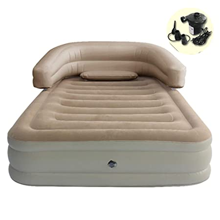 Inflatable Blow Up Flocked Camping Holiday Travel Guest Air Mattress Bed