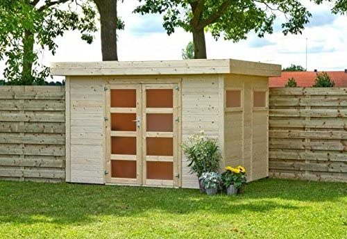 Outdoor Garden Shed With Flat Roof House Violet Amazon Co Uk Garden Outdoors