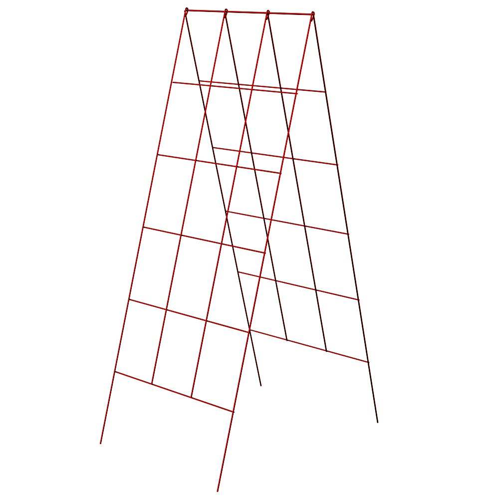 PanaceaProducts 46-Inch by 18-Inch A-Frame Trellises (1 Pack, Red)