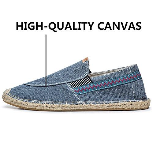 Canvas Sole Classics Espadrillas Rope Casual Uomo Blu Blu Alpargatas Sneakers xI5dYwRH