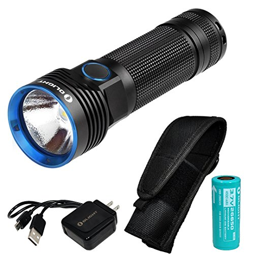Olight R50 Seeker 2500 Lumens CREE XHP50 Rechargeable LED Flashlight with LumenTac Holster by Olight