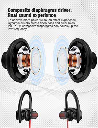 Otium Bluetooth Headphones,Wireless Earbuds IPX7 Waterproof Sports Earphones with Mic HD Stereo Sweatproof in-Ear…
