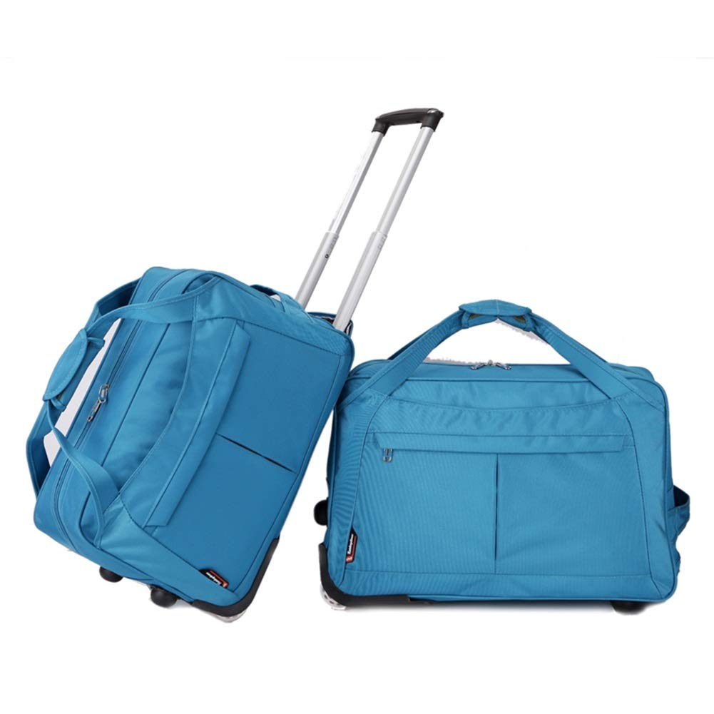 Travel Bags Trolley Case Travel Business Trip Short-Distance Pull Rod Luggage Suitcases Carry On Hand Luggage Durable Hold Tingting Color : Blue, Size : 543329