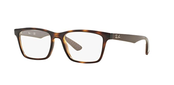 Ray-Ban 0RX7025 Monturas de gafas, Havana, 52 Unisex: Amazon ...