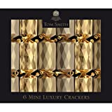 The Gift Wrap Company 6 Count Tom Smith Luxury Christmas Crackers Facets, Gold