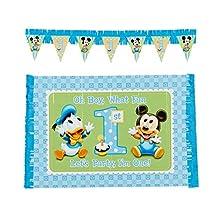 Mickey's 1st Birthday High Chair Decoration 2-Piece Kit