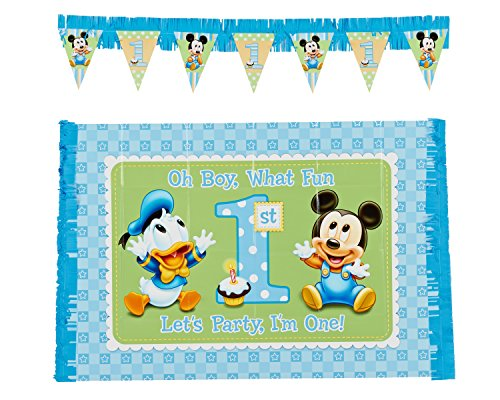Mickey's 1st Birthday High Chair Decoration 2-Piece Kit (Duo Costume Ideas)