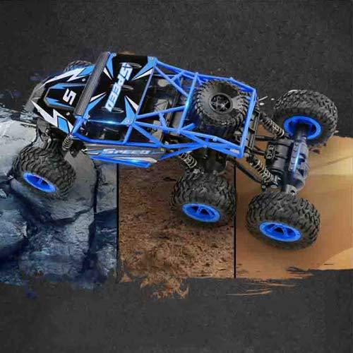 Pinjeer パッケージ特大60.5 * 30 * 30cm 6輪駆動充電リモートコントロール車10KM / H高速RC車の男の子のおもちゃ良い子供用ブリジットギフト5+ (Color : Cyan-blue, サイズ : 1-Battery) B07R9Z8PKD Blue 2-Battery 2-Battery|Blue