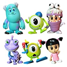 Monsters, Inc. Hot Toys 3 Inch Mini Cosbaby Set of 6 Figures [Mike, Sulley, Boo, Randall, Boo Monster Ver. & Mike Diver Ver.] (japan import)