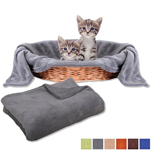 Haustierdecke Katzendecke Schutzdecke Liegedecke für Tiere, Auswahl: 80x120 cm steingrau - anthrazit