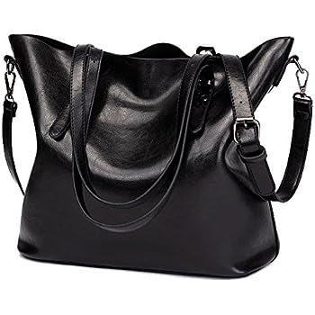 ALARION Women Top Handle Satchel Handbags Shoulder Bag Messenger Tote Bag  Purse CMMB00335-Black 06cf09112a