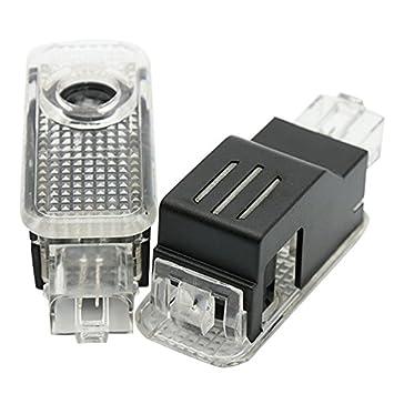 Huayin 2 pi/èces porte de voiture LED de voiture Ghost Shadow Logo lumi/ère de porte dentr/ée d/éclairage lumi/ère lampe de lumi/ère