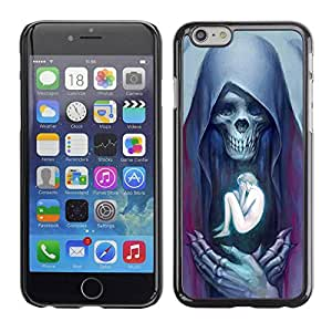 LASTONE PHONE CASE / Carcasa Funda Prima Delgada SLIM Casa Carcasa Funda Case Bandera Cover Armor Shell para Apple Iphone 6 / Angel Death Human Bones Skull