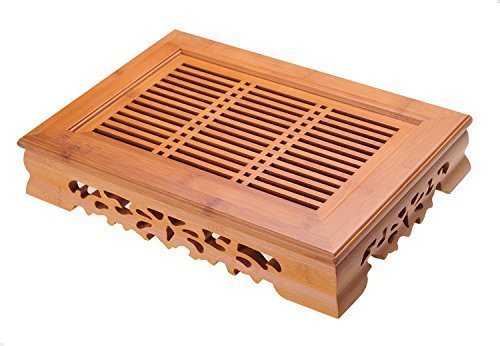 Yeme Tasteful Bamboo Tea Table Serving Tray 14