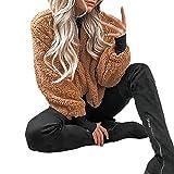 Rambling New Women's Long Sleeve Zip Pullover Jacket Outwear Sweatshirt Winter Warm Coat Fluffy Fleece Fur Outerwear