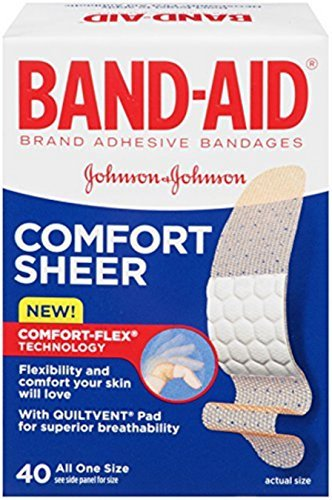 Johnson & Johnson Band-Aid Adhesive Bandages Sheer Comfort Flex 40 ct (Pack of 6) by BAND-AID(R) BRAND ADHESIVE BANDAGES