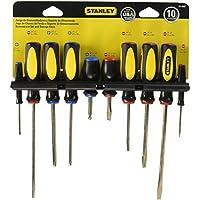 Stanley 60-100 Juego de destornilladores estriados estándar de 10 piezas