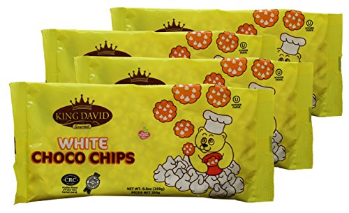 King David Vegan Lactose-Free Non-dairy Kosher White Chocolate Flavored Chips 8.8-ounce Bags (Pack of 4)]()
