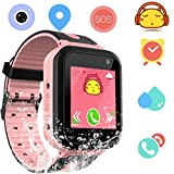 Waterproof Smart Watch Phone for Kids - IP67 Waterproof Watches with SOS Voice Chat Camera...