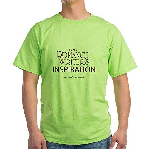 CafePress Romance Writer's Husband Light T Shirt 100% Cotton T-Shirt Green