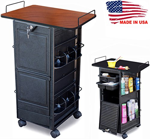 N20-PT Salon SPA Roll-about Cart w/Lockable door & 109-Cherry TOP MADE IN USA by Dina Meri