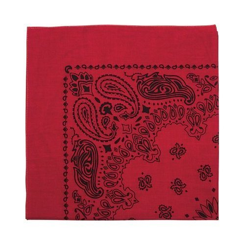 ana, Red / Black (Black Trainmen Bandana)
