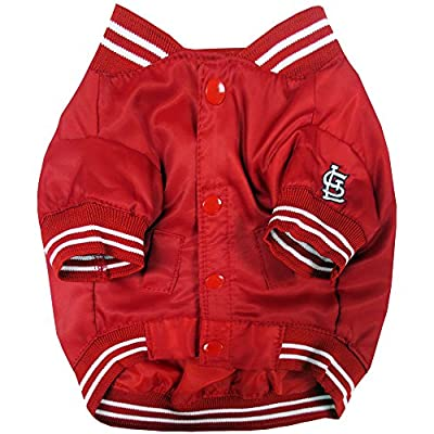 Pets First MLB Saint Louis Cardinals Dugout Dog Jacket