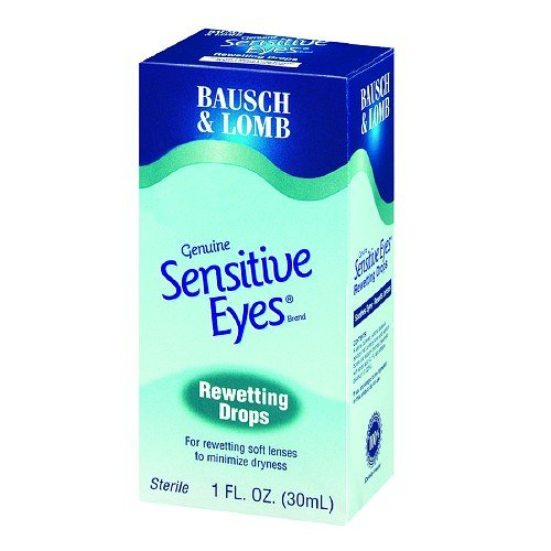 Bausch & Lomb Sensitive Eyes Rewetting Drops 1 oz (Pack of 5)