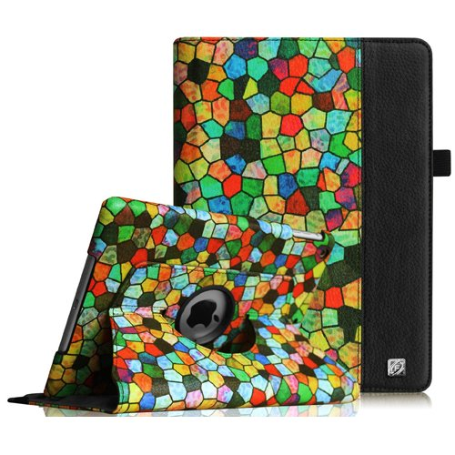 Fintie iPad mini 1/2/3 Case - 360 Degree Rotating Stand Case Cover with Auto Sleep / Wake Feature for Apple iPad mini 1 / iPad mini 2 / iPad mini 3, Stained Glass Mosaic (Stained Glass Ipad Mini Case)