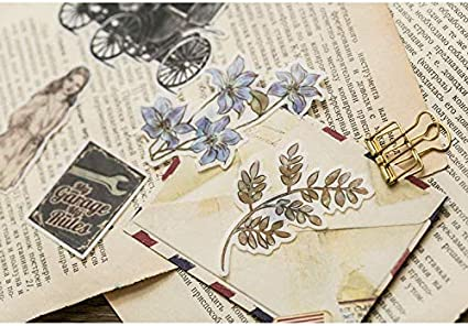 Beyong Pad Laptop Scrapbook 60PCS Adorable Watercolor Leaves and Plants Stickers Decals Diary Journal Planner for Your Phone