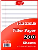 Binder Filler Paper - 200 Sheets - 10.5'' X 8'' [36 Pieces] *** Product Description: Binder Filler Paper200 Sheetswide Ruled10.5'' X 8''3 Hole Punchedvery Good Quality Paperprinted Blue Lines With A Red Margin. ***