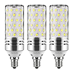 GEZEE LED Cylindrical Bulb, E12 Base, 15Watt, 120V, 6000K Warm White, 1500Lumens, 360 Degrees Beam Angle, Non-dimmable(3 Packs)Specifications:Base Type:E12(cylindrical)LED Color: Warm WhiteIntensity: 1500LMDimmable: NOModel: Cylindrica...