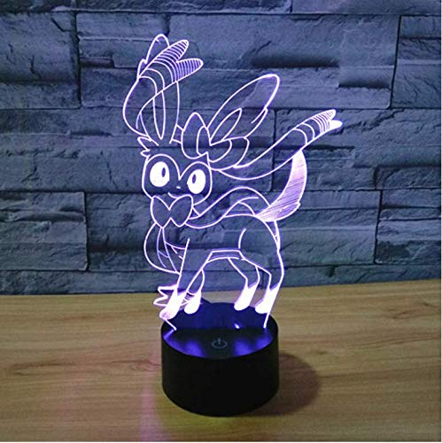 Buntes 3D Nachtlicht Led 7 Color Dimming Illusion Bedroom Lamp Holiday Light Novelty Kids Toys For Party Weihnachten…
