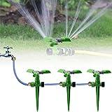 KING DO WAY Arroseur Rotatif sur Pic Automatique Arrosage Irrigation pour Gazon Pelouse Jardin Vert (Arroseur Rotatif sur Pic)