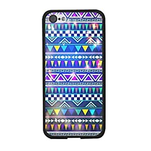 TYHde Galaxy Glitter ipod Touch4 Case Cover - Sparkle Nebula Design Geometric Triangle Hybrid Design Cell Phone Back Protective Cover Shell for Girls ending