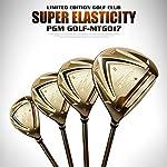 SHEHUIREN-Mens-Golf-Set-Deluxe-Stand-Bag-Tutti-Grafite-Shafted-Pacchetto-Set-5-Club-12-Clubdoro12-Sticks