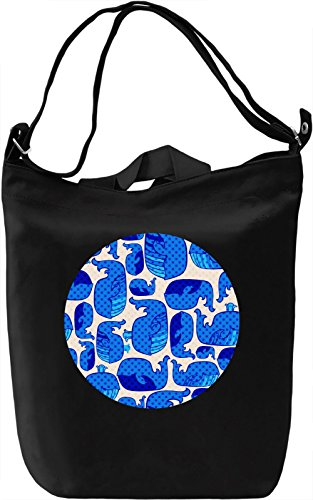 Cute Whales Borsa Giornaliera Canvas Canvas Day Bag| 100% Premium Cotton Canvas| DTG Printing|