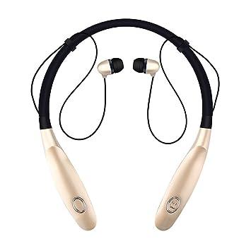 Auriculares Bluetooth inalámbricos V4.2, con banda para el cuello, sonido estéreo,