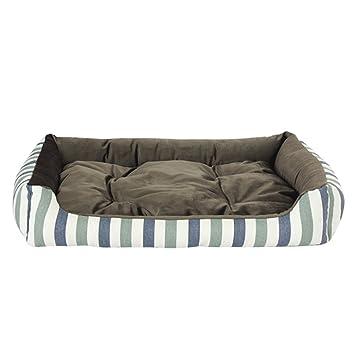 Cama lavable grande para perros, funda extraíble, sofá mullido para perros (Size :