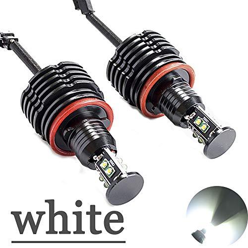 SINOVCLE H8 Angel Eyes E92 LED Marker Halo Ring High Power 2x 40W 80W for BMW E90 X5 E71 X6 E82 M3 E60 E70 (white)
