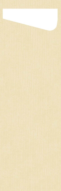100x Duni 450056 Sacchetto Servietten-Taschen Besteck-Taschen Cream