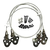 Metal Anti-Tip Straps Baby Safety Wall Anchor Kit for TV and Furniture - 29.5'' Steel Cable with Mounting Hardware Included (2 Pack)